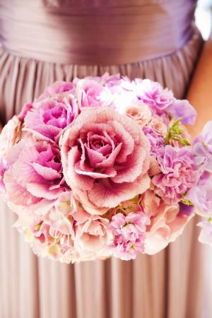 Purple Silk Bridesmaids Dresses