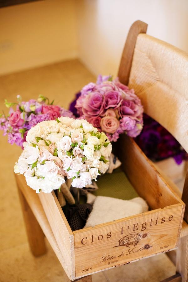 Purple and Cream Wedding Bouquets - Elizabeth Anne Designs: The ...