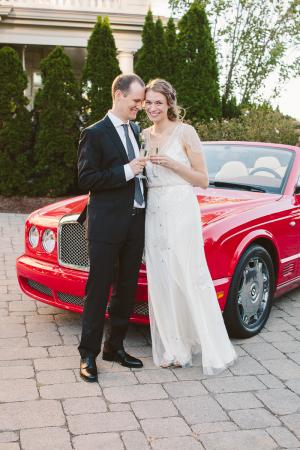 Red Convertible Getaway Car