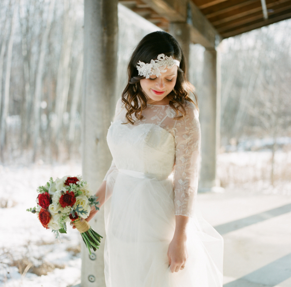 Red White and Lace Winter Wedding Ideas