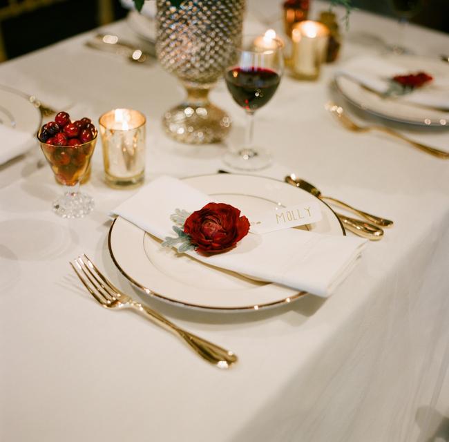 Red And Gold Winter Wedding Decor Ideas Elizabeth Anne Designs