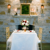 Red and Gold Winter Wedding Decor Ideas