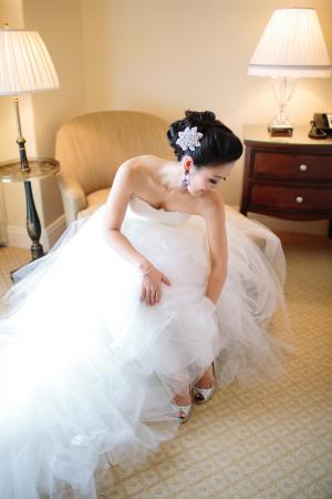 Rhinestone Flower Barrette Bridal Hair Ideas