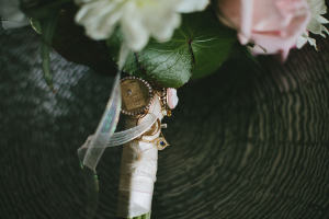 Ribbon Wrap and Charms on Bouquet