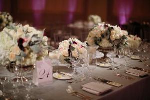 Rose Hydrangea and Dusty Miller Floral Arrangements