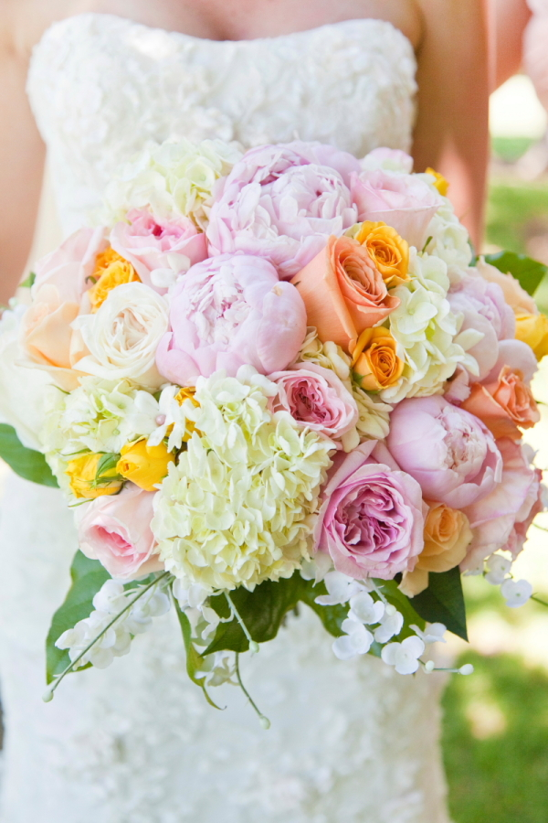 rose peony and hydrangea bouquet - Garden Rose And Hydrangea Bouquet