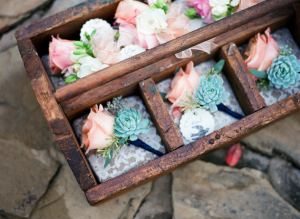 Rose and Succulent Boutonnieres