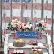 Rustic Americana Dessert Cart