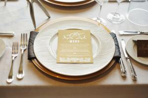 Rustic Elegant Gold Reception Menu Card