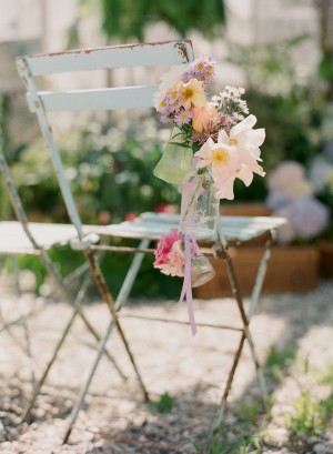 Shabby Chic Wedding Flower Chair Decor