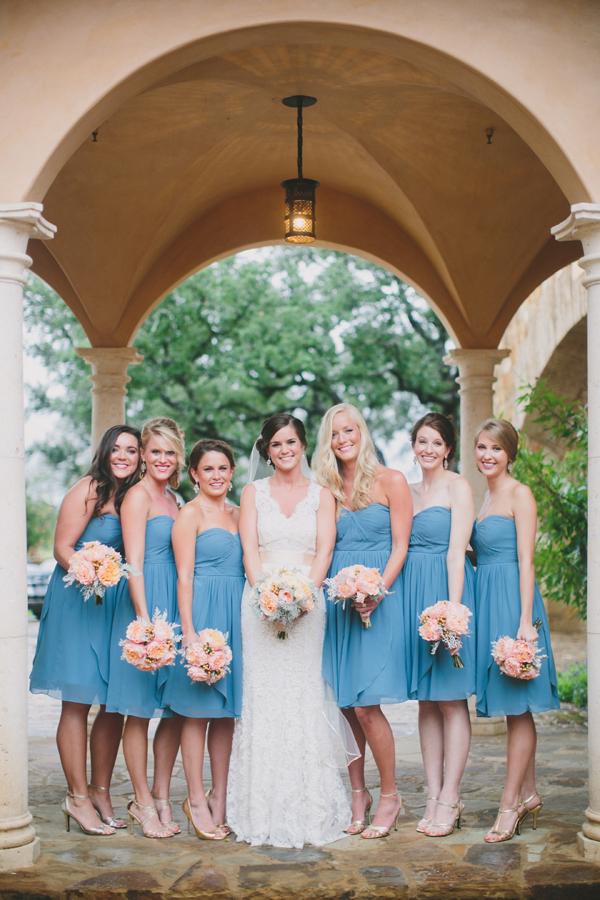 Short Strapless Turquoise Bridesmaids Dresses