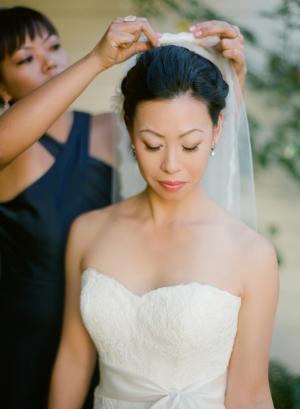 Strapless Wedding Gown With Satin Sash