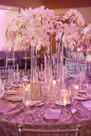 Tall White Orchid Centerpiece