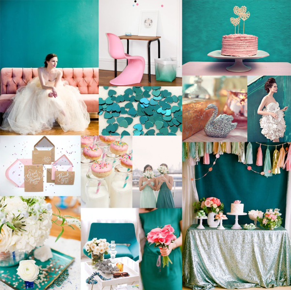 Teal Pink Silver Color Inspiration