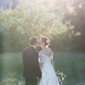 V Back Wedding Gown With Sheer Wrap