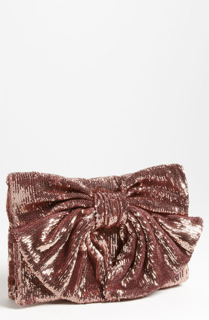 Valentino Sequin Bow Clutch
