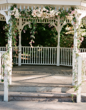 Wedding Gazebo With Flower Garland