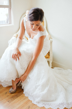 Wedding Gown With Scallop Lace Trim