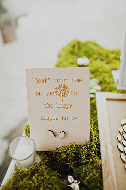 Wedding Guest Leaf Book