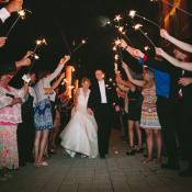 Wedding Reception Sparkler Exit