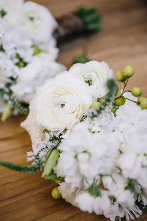 White Bouquets With Green Berries