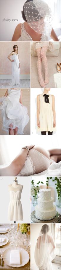 White Dot Wedding Inspiration