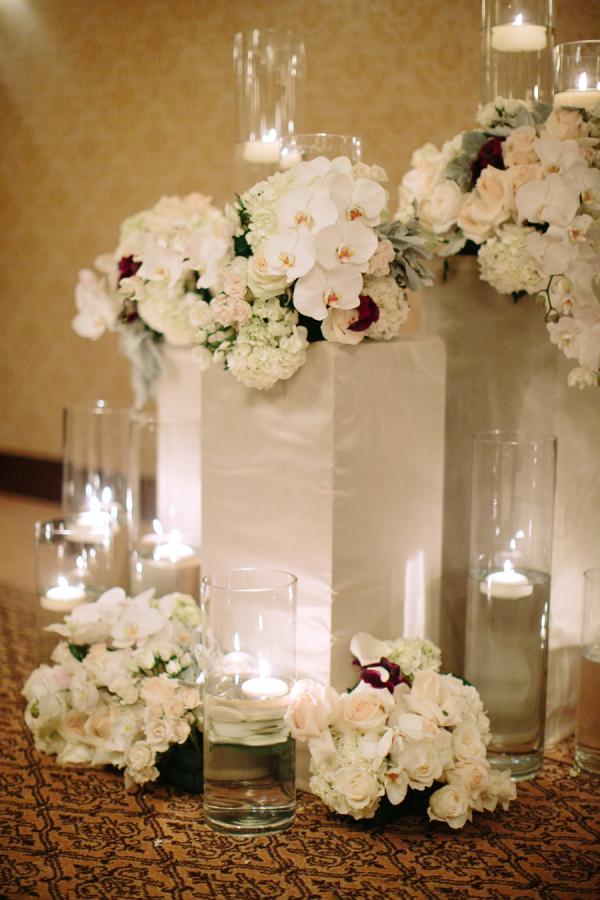 White Orchid and Hydrangea Altar Decor
