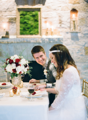 White and Red Winter Wedding Ideas