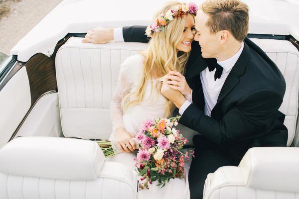 Couple in Getaway Car