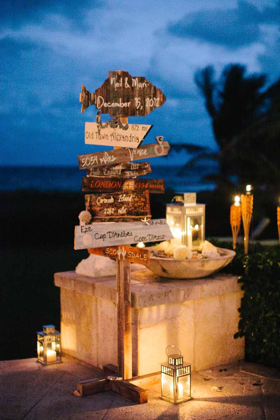 Beachside Evening Wedding