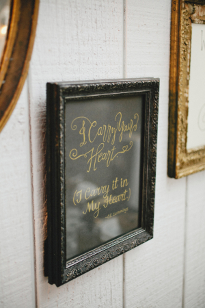 Black and Gold Framed Quote