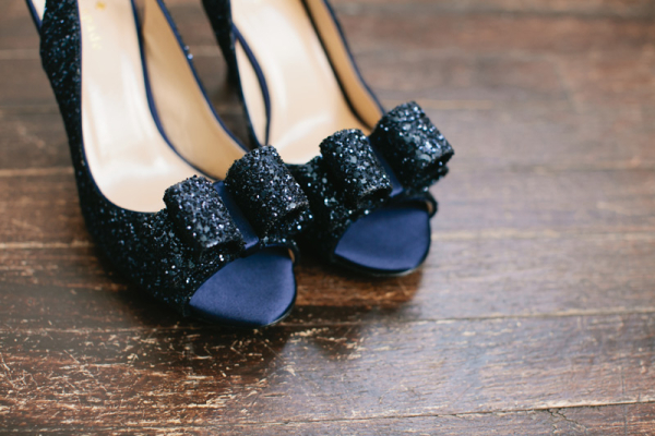 Navy Blue Bridal Heels