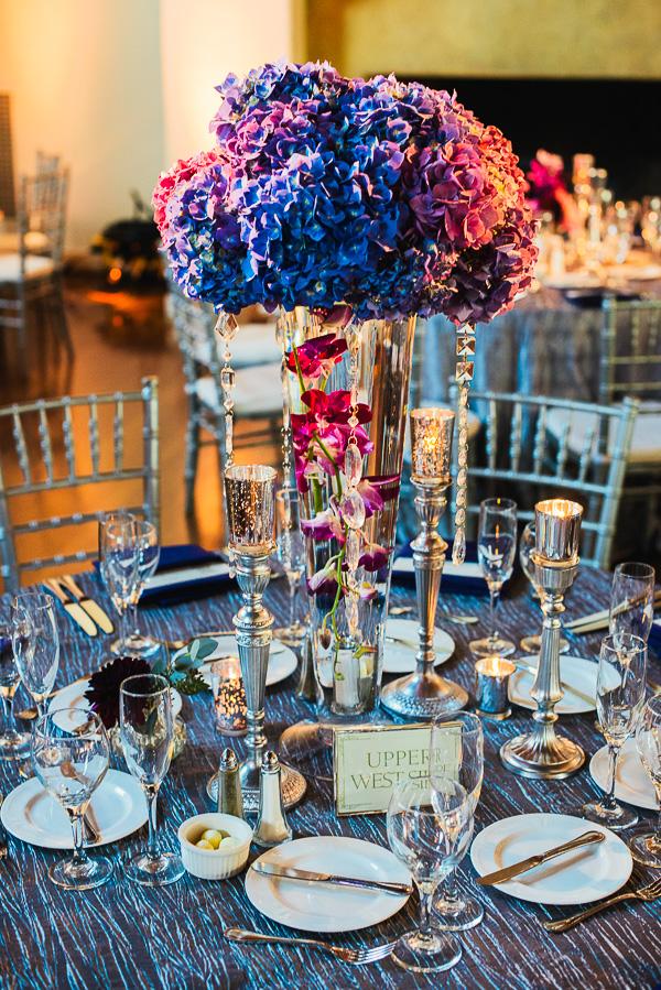 Blue pink silver centerpiece elizabeth anne designs the