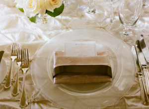 Blush and Ivory Reception Table Linens