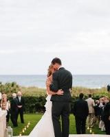 Bride and Groom Beachfront Dance