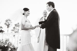 Bride and Groom Ceremony Portrait