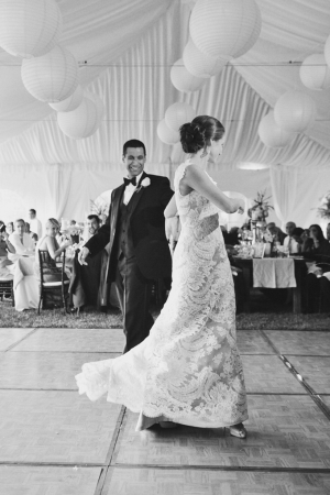 Bride and Groom First Dance Rebekah Westover Photography