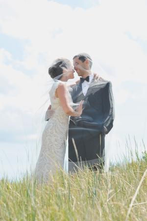 Bride and Groom Outdoor Portrait Rebekah Westover Photography