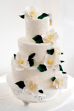 Cake with Sugar Gardenias