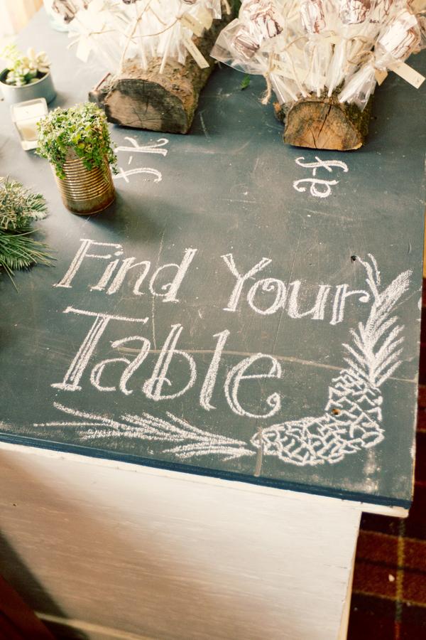 Chalkboard Tabletop Wedding Sign