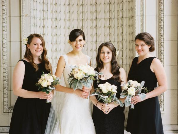 Classic Black Bridesmaids Dresses