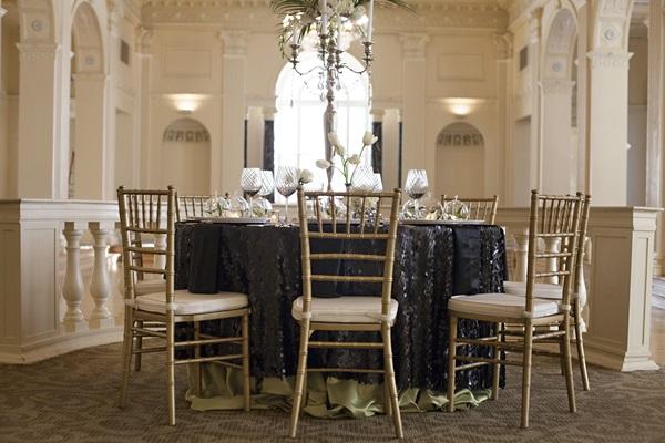 classic gold black and white reception decor ideas elizabeth anne