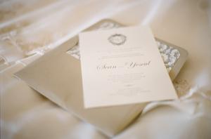 Classic Taupe and Cream Wedding Invitation