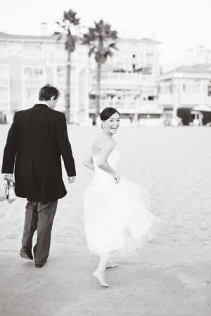 Classic Wedding Shutters on the Beach