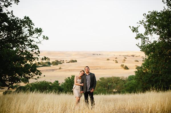 Engagement Portrait in Field Ken Kienow