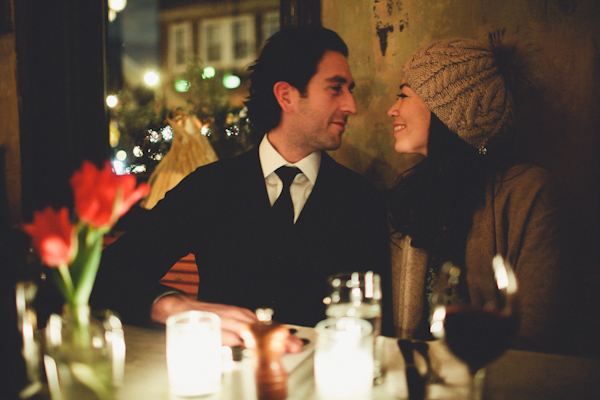 Couple at Candlelight Dinner