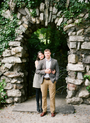 Couple in Front of Stone Arch Katie Stoops Photography