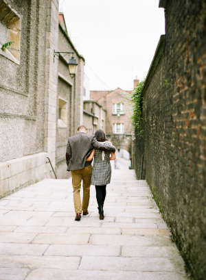 Couple on Cobblestone Street Katie Stoops Photography