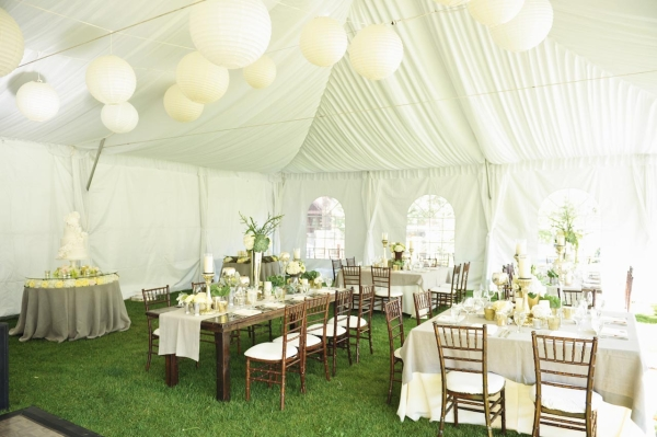 Cream Green and Taupe Tent Reception Decor Ideas - Elizabeth Anne ...