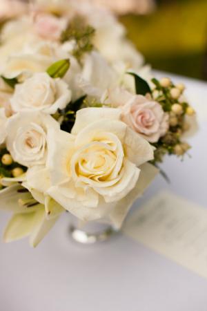 Cream Rose Centerpiece